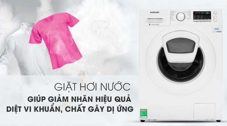 Máy giặt Samsung WW90K44G0YW/SV lồng ngang Inverter 9Kg, giặt hơi nước