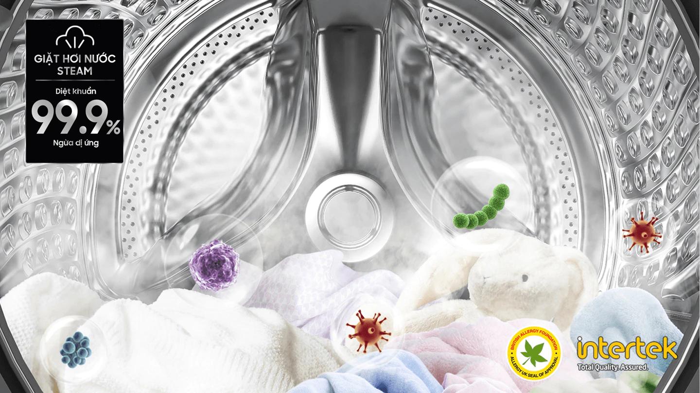 máy giặt Samsung WW90T634DLE/SV lồng ngang, giặt hơi nước