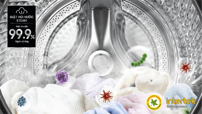Máy giặt Samsung WW90TP54DSB/SV , giặt hơi nước tiêu diệt vi khuẩnr