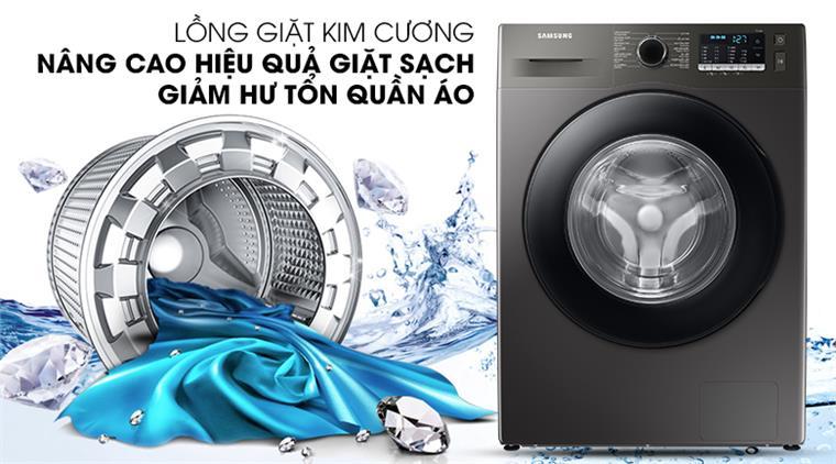 Máy giặt Samsung WW95TA046AX/SV lồng ngang Inverter 9.5kg, lồng giặt kim cương