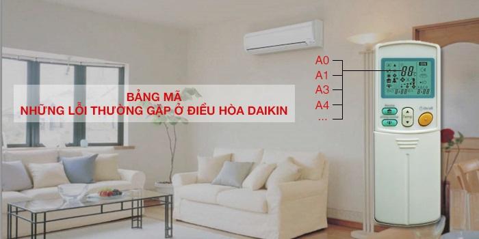 Bảng mã lỗi điều hòa trung tâm Daikin VRV