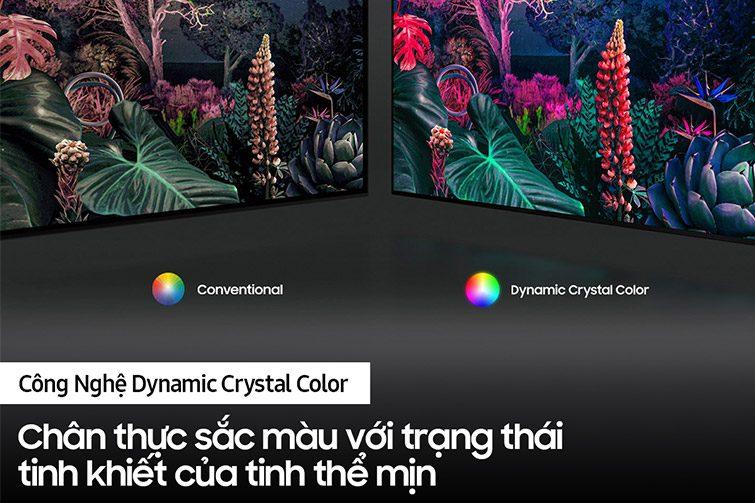Công nghệ Dynamic Crystal Color trên tivi samsung