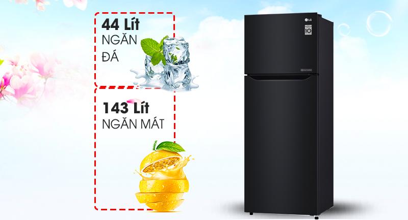 Tủ lạnh LGSmart Inverter 187 lít GN-L205WB, sang trọng