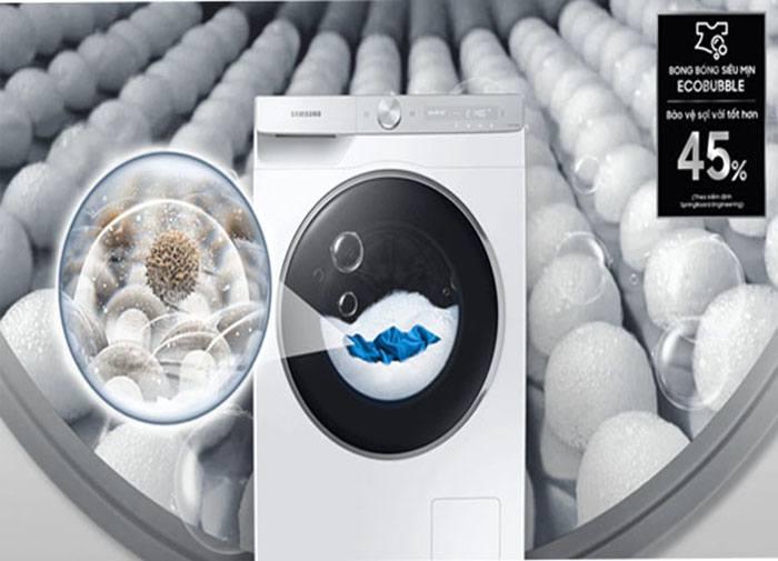 Máy giặt lồng ngang Samsung WW10TP54DSH/SV , giặt bong bóng