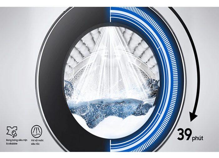 Máy giặt lồng ngang Samsung WW10TP54DSH/SV, giặt nhanh