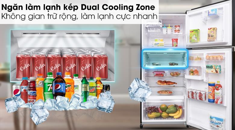 ngăn làm lạnh kép tủ lạnh toshiba