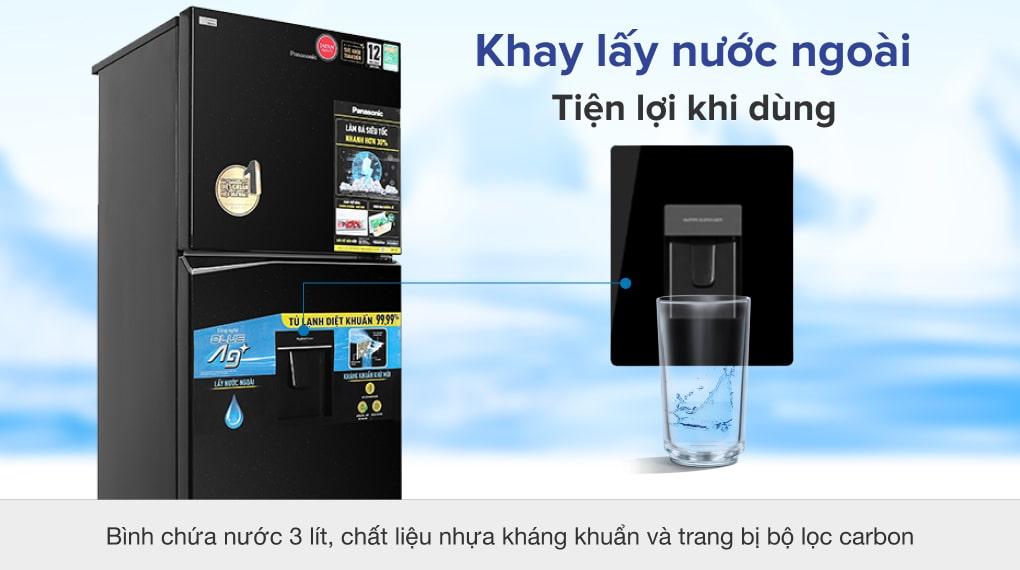 Tủ lạnh Panasonic NR-TL381GPKV Inverter 366L, lấy nước ngoài tiện lợi