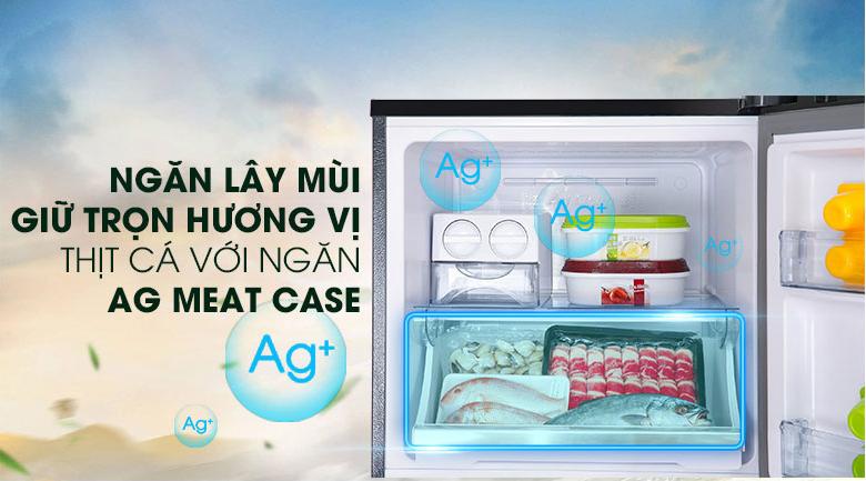 Tủ lạnh Panasonic NR-BL381WKVN 366L inverter, ngăn trữ thịt riêng