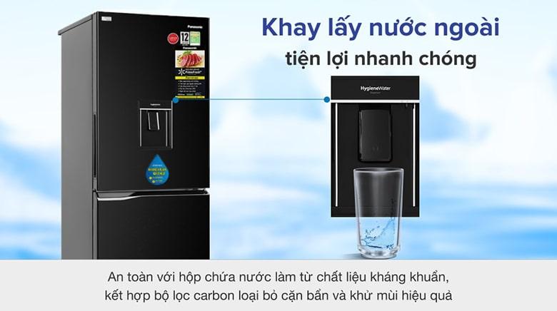 Tủ lạnh Panasonic NR-BV280WKVN Inverter 255L, hệ thống lấy nước ngoài