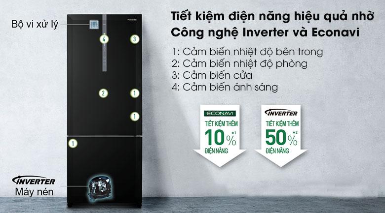 Tủ lạnh Panasonic Inverter 368L NR-BX410GKVN, tiết kiệm điện