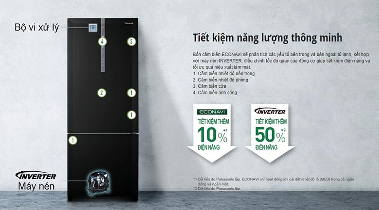 Tủ lạnh Panasonic NR-BX460GKVN inverter 410L, tiết kiệm điện
