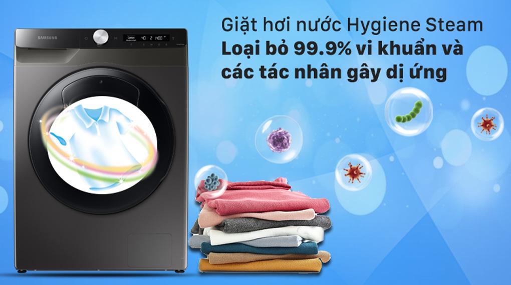 Máy giặt Samsung WW85T554DAX/SV lồng ngang 8.5Kg, giặt hơi nước