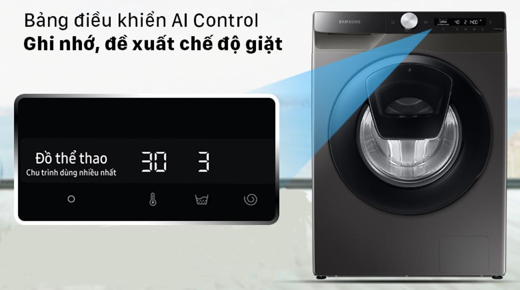 Máy giặt Samsung WW85T554DAX/SV lồng ngang 8.5Kg, bảng điều khiển thông minh