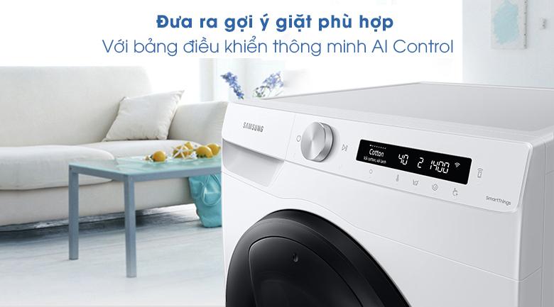 Máy giặt WW85T554DAW/SV, bảng điều khiển thông minh