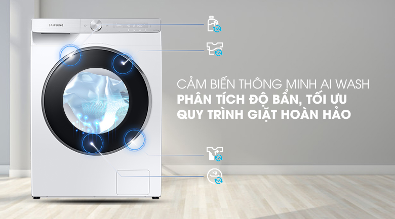 Máy giặt Samsung WW90TP44DSH/SV , cảm biến thông minh