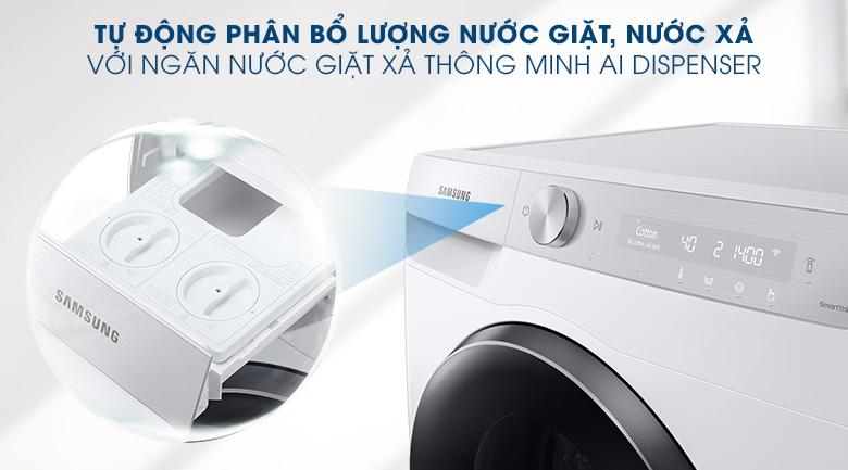 Máy giặt Samsung WW90TP44DSH/SV, phân bổ nước giặt