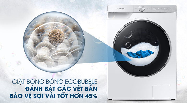 Máy giặt Samsung WW90TP44DSH/SV, giặt bong bóng
