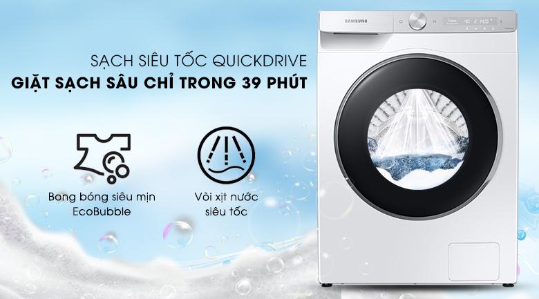 Máy giặt Samsung WW90TP44DSH/SV , giặt sạch 39 phút