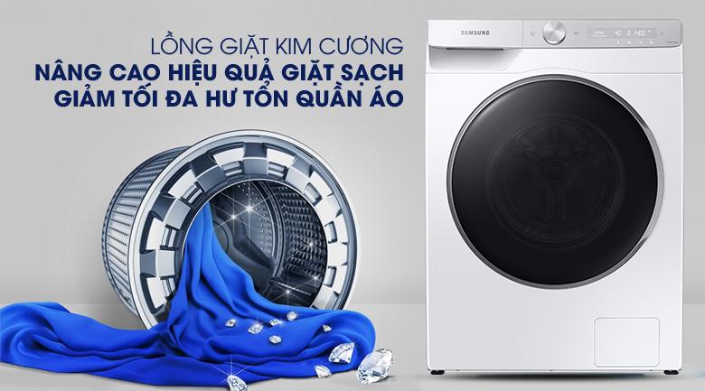 Máy giặt Samsung WW90TP44DSH/SV, lồng giặt kim cương