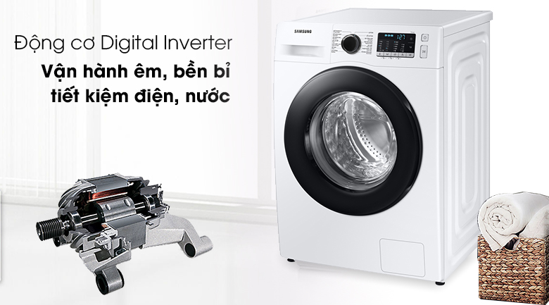 Máy giặt Samsung WW10TA046AE/SV Inverter tiết kiệm điện