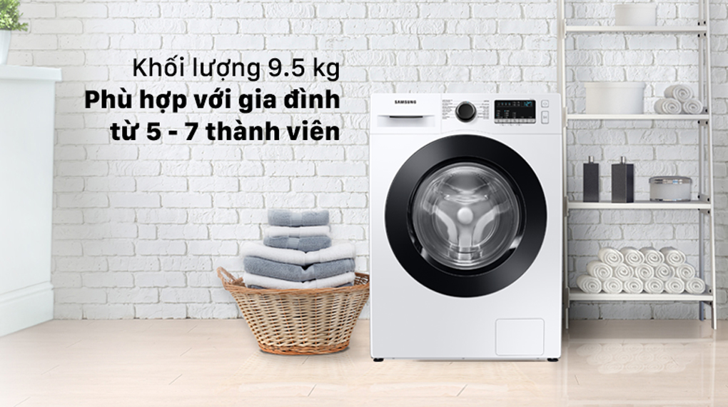 Máy giặt SamSung WW95T4040CE/SV, hiện đại 9,5kg