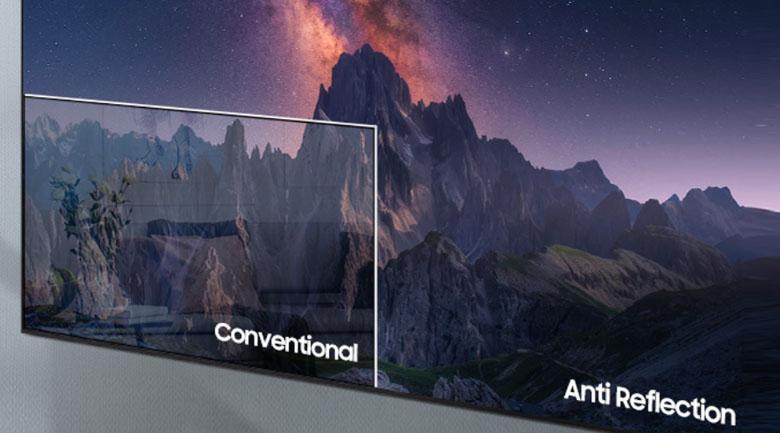 Công nghệ Anti-Reflection trên tivi samsung neo qled 55qn90a