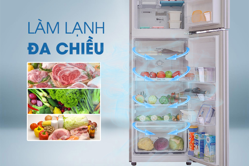 Tủ lạnh Samsung RT25HAR4DSA/SV 255 lít, làm lạnh đa chiều
