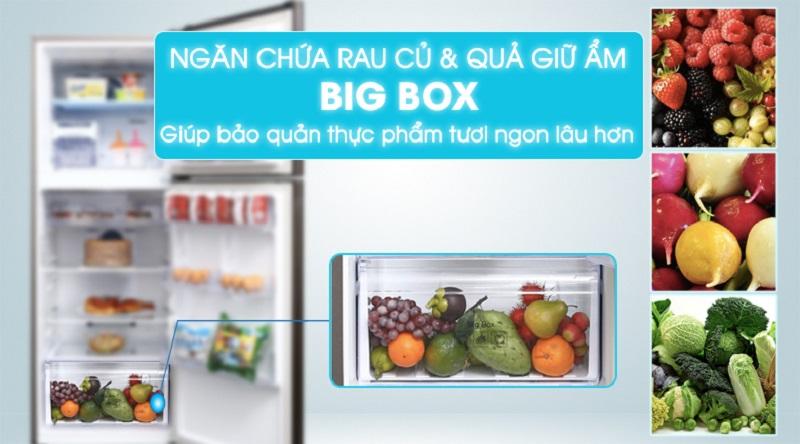 Tủ lạnh Samsung RT29K5532DX/SV, ngăn chứa rau củ