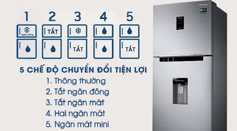 Tủ lạnh Samsung RT32K5932S8/SV, chuyển đổi 5 chế độ
