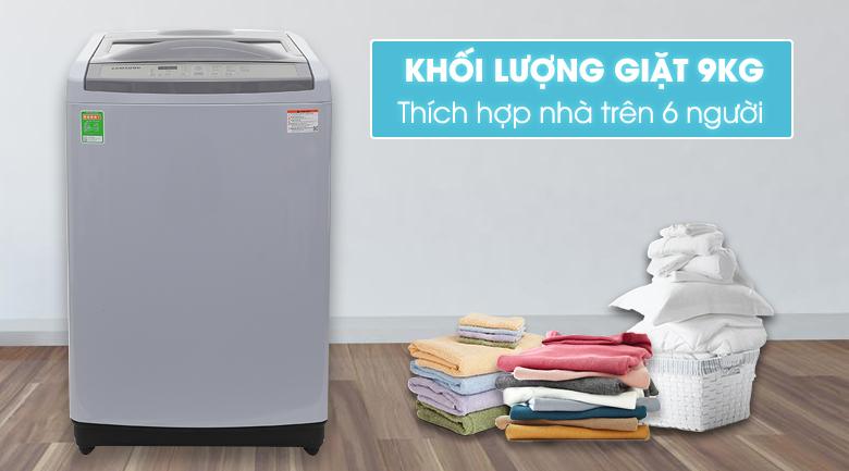 Máy giặt Samsung WA90M5120SG/SV lồng đứng Inverter 9kg