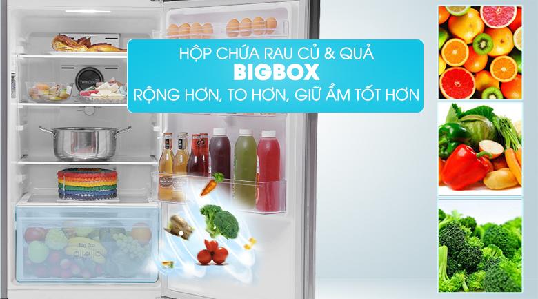 Tủ lạnh Samsung RT29K5012S8/SV 299 lít, ngăn chứa hoa quả