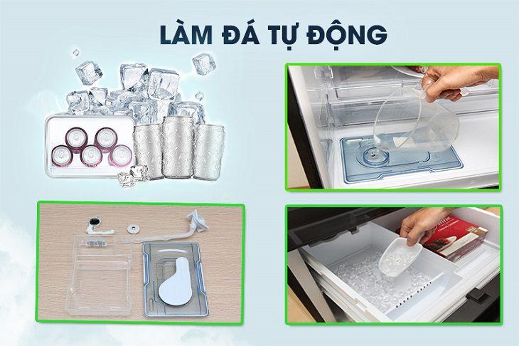 Tủ lạnh Panasonic NR-F603GT-N2 Inverter 589 lít, làm đá tự động