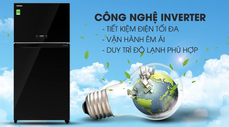 Tủ lạnh Toshiba GR-AG58VA XK Inverter 555 lít, tiết kiệm điện