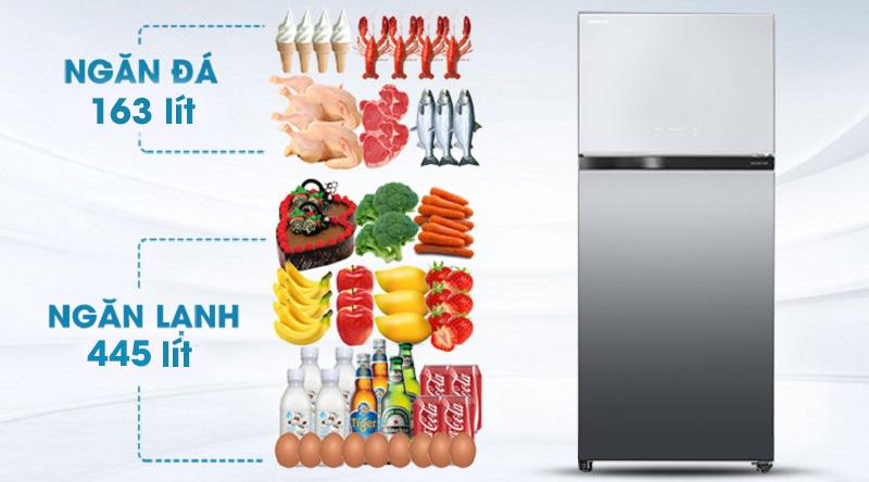 Tủ lạnh Toshiba GR-AG66VA-X 608 lít inverter, dung tích lớn
