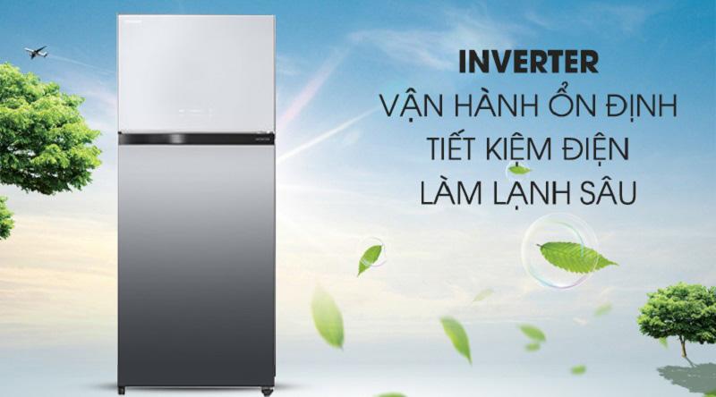 Tủ lạnh Toshiba GR-AG66VA-X 608 lít inverter, tiết kiệm điện