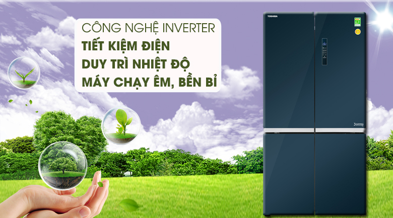 Tủ Lạnh TOSHIBA GR-RF690WE-PGV Inverter 622 Lít, tiết kiệm điện