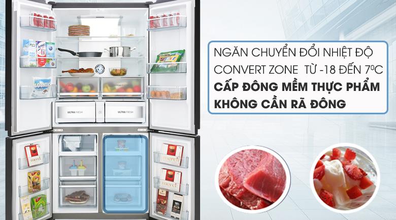 Tủ Lạnh TOSHIBA GR-RF690WE-PGV Inverter 622 Lít, ngăn chuyển đổi linh hoạt