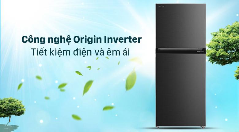 tủ lạnh Toshiba GR-RT400WE-PMV(06)-MG Inverter 312 lít, tiết kiệm điện