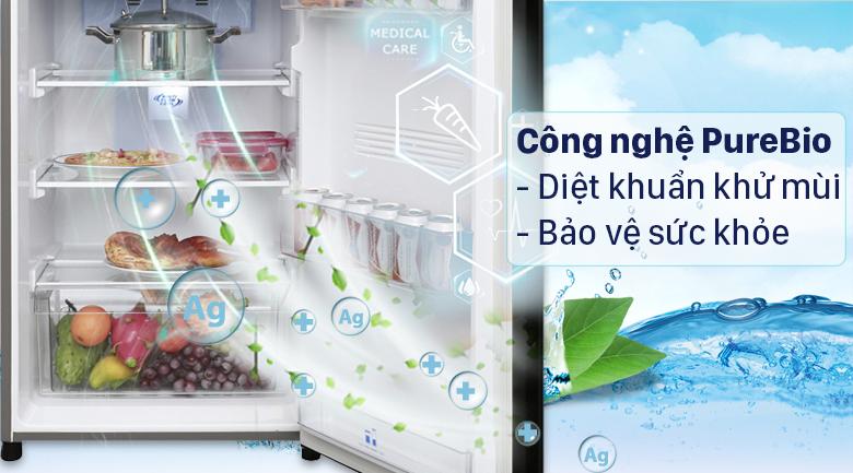 tủ lạnh Toshiba GR-RT400WE-PMV(06)-MG Inverter 312 lít, diệt khuẩn