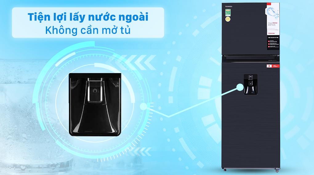 Tủ lạnh Toshiba GR-RT435WE-PMV(06)-MG 337 Lít Inventer, vòi lấy nước ngoài