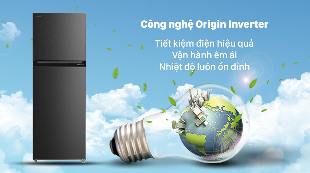 Tủ Lạnh Toshiba GR-RT440WE-PMV(06)-MG Inverter 338L, tiết kiệm điện