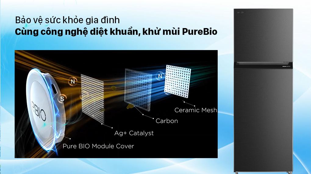 Tủ Lạnh Toshiba GR-RT440WE-PMV(06)-MG Inverter 338L, diệt khuẩn