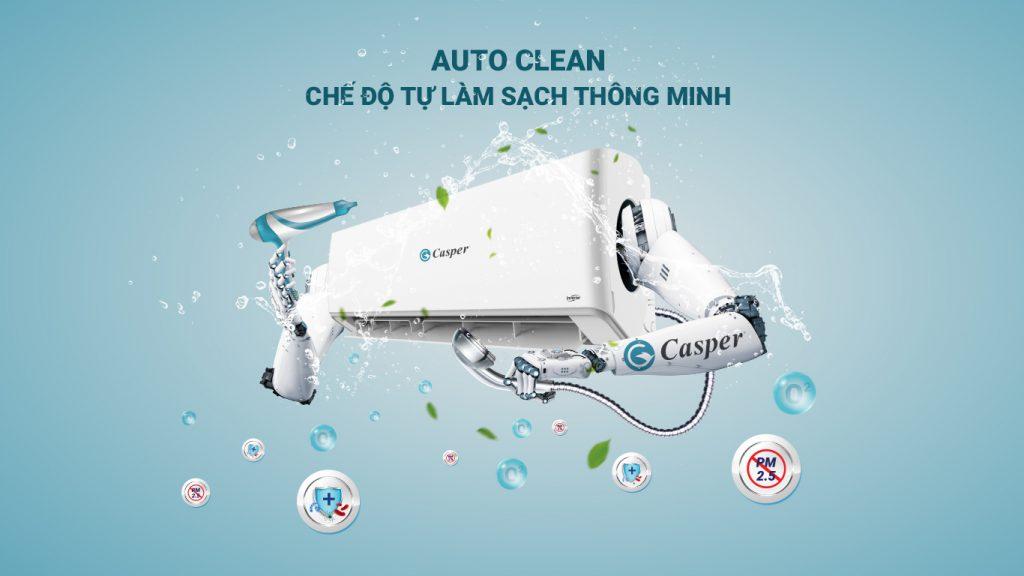 Điều hòa Casper GC-24IS32 24000btu 1 chiều inverter, auto clean