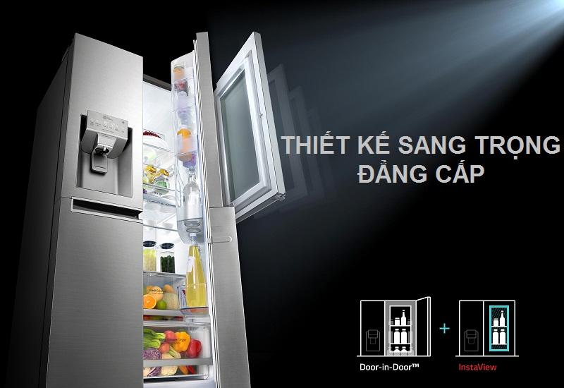Tủ lạnh LG Door-in-Door 601 lít GR-X247JS Inverter InstaView, sang trọng