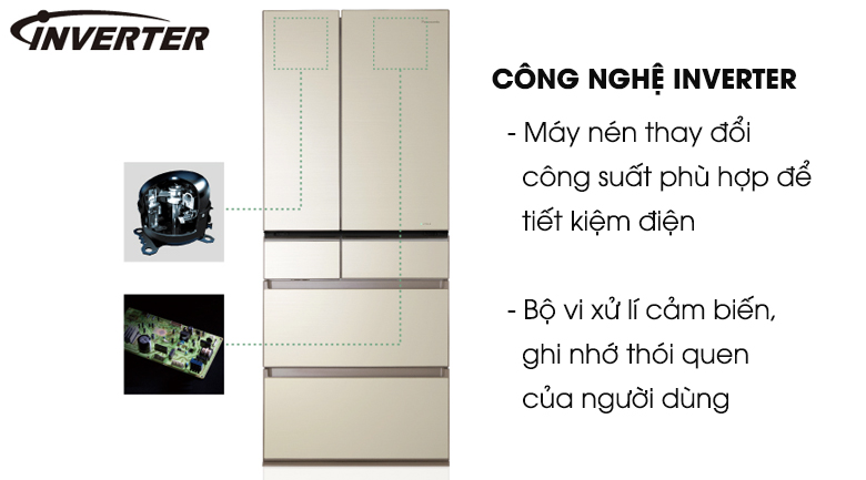 Tủ lạnh Panasonic NR-F603GT-N2 Inverter 589 lít, tiết kiệm điện