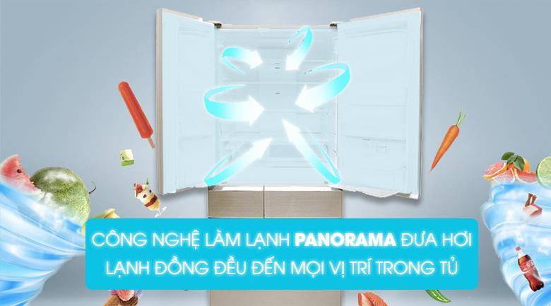 Tủ lạnh Panasonic NR-F603GT-N2 Inverter 589 lít, làm lạnh đa chiều