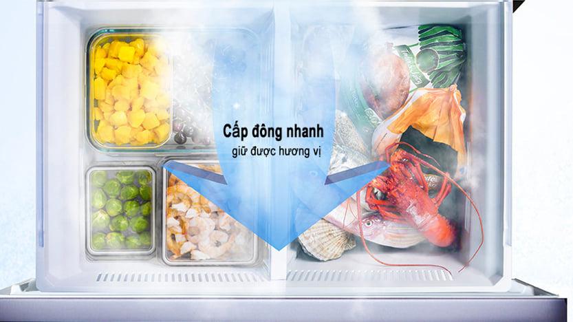 Tủ lạnh Panasonic NR-W621VF-T2 inverter 618L, cấp đông nhanh