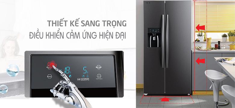 Tủ lạnh Toshiba RS637WE-PMV(06)-MG SBS Inverter 493L, bảng điều khiển tiện lợi