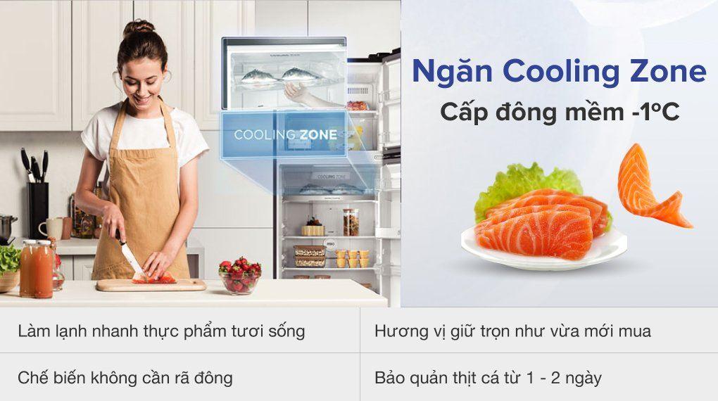 Tủ lạnh ToshibaGR-RT535WE - PMV(06)-MG Inverter 407 lít, ngăn đông mềm