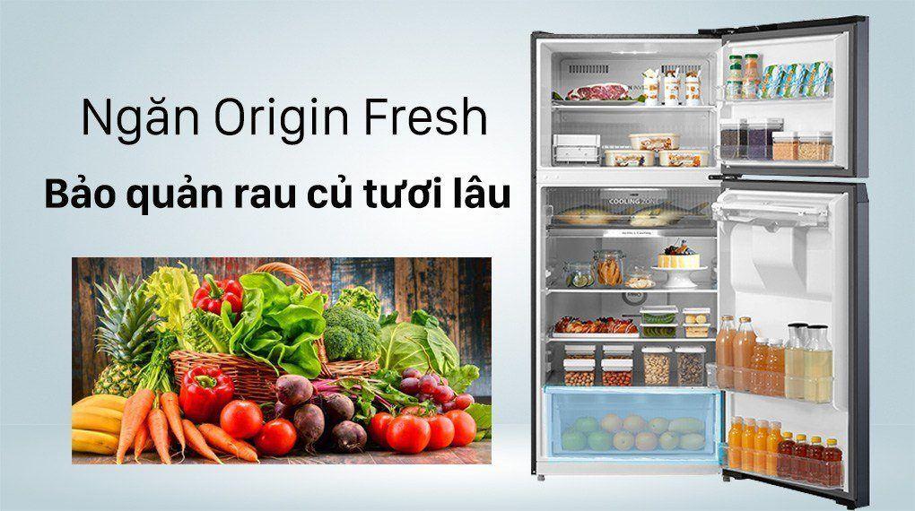 Tủ lạnh ToshibaGR-RT535WE - PMV(06)-MG Inverter 407 lít, hộc đựng rau quả